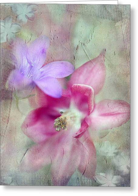 Pretty Flowers Greeting Card by Annie Snel