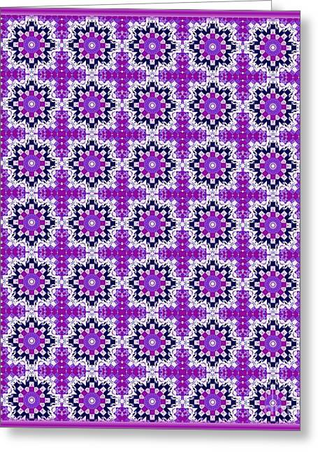 Purple Tapestries - Textiles Greeting Cards - Pretty in Lilac Greeting Card by Barbara Griffin