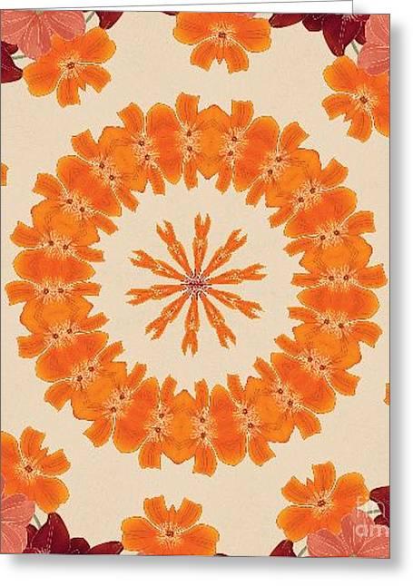 Pretty In Orange Greeting Card by Lena Photo Art
