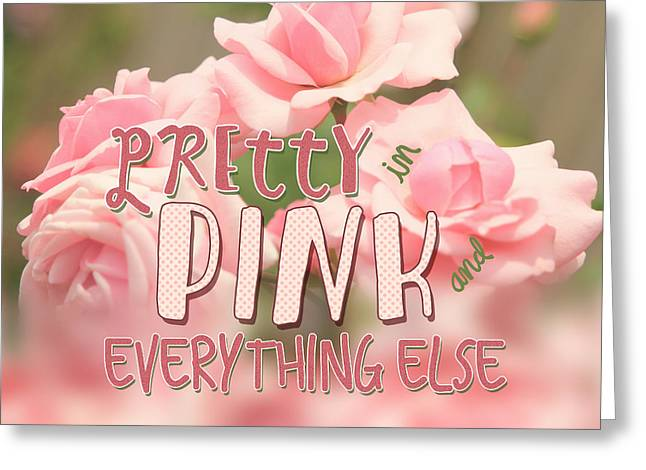 Pretty In Pink And Everything Else Hybrid Tea Roses Greeting Card by Beverly Claire Kaiya