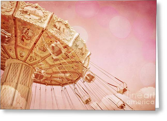 Rotate Greeting Cards - Carnival - Pretty in Pink Greeting Card by Colleen Kammerer