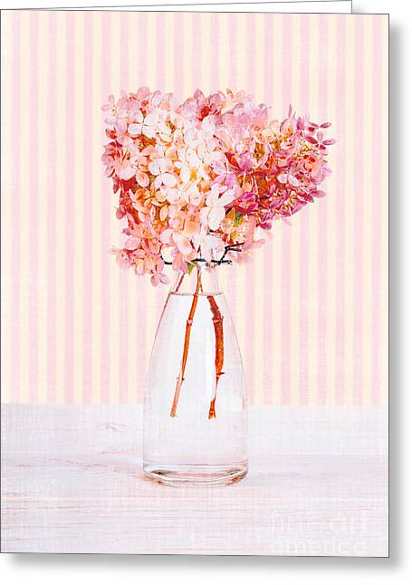 Girly Greeting Cards - Pretty in Pink Flowers Greeting Card by Edward Fielding