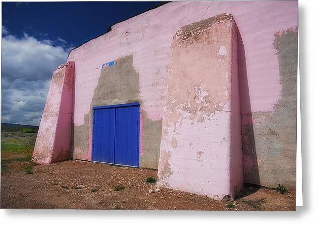 Abandoned School House. Greeting Cards - Pretty in Pink Greeting Card by Ghostwinds Photography
