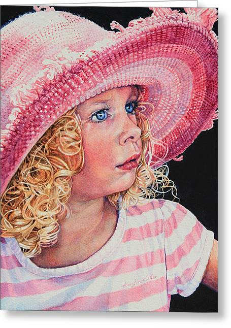 Tears Greeting Cards - Pretty In Pink Greeting Card by Hanne Lore Koehler