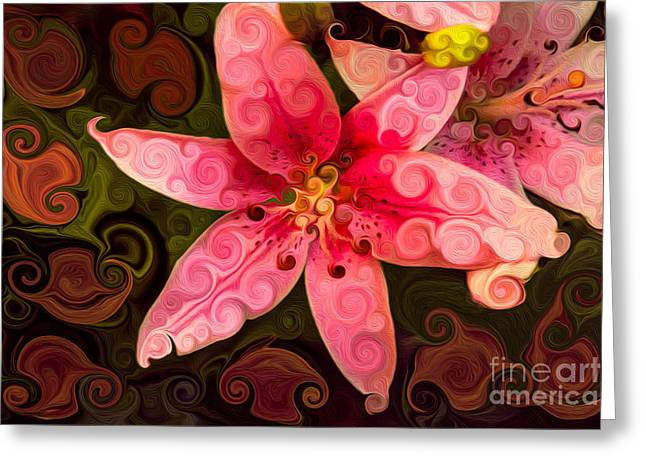 Owfotografik Greeting Cards - Pretty In Pink Greeting Card by Omaste Witkowski