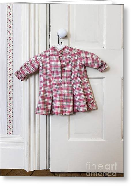 Plaid Dress Greeting Cards - Pretty in Pink Plaid Greeting Card by Margie Hurwich