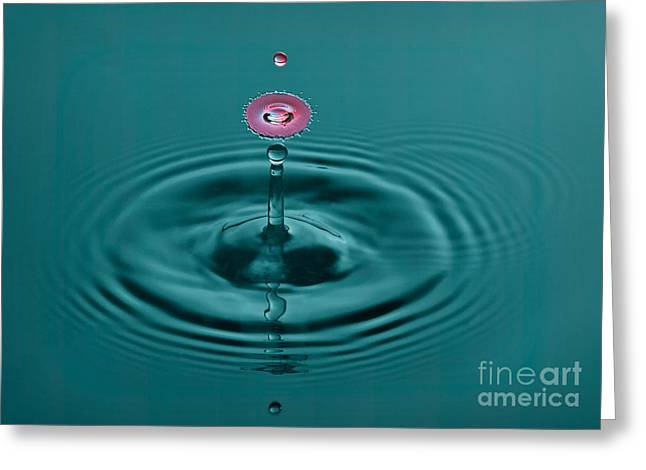 Water Drop Greeting Cards - Pretty Liquid Pink Hat Greeting Card by Susan Candelario