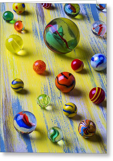Amusements Greeting Cards - Pretty Marbles Greeting Card by Garry Gay