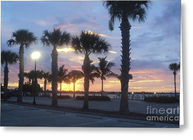 St. Lucie County Greeting Cards - Pretty Parking Greeting Card by Megan Dirsa-DuBois