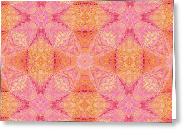 Your Home Mixed Media Greeting Cards - Pretty Pastel Abstract Greeting Card by Georgiana Romanovna