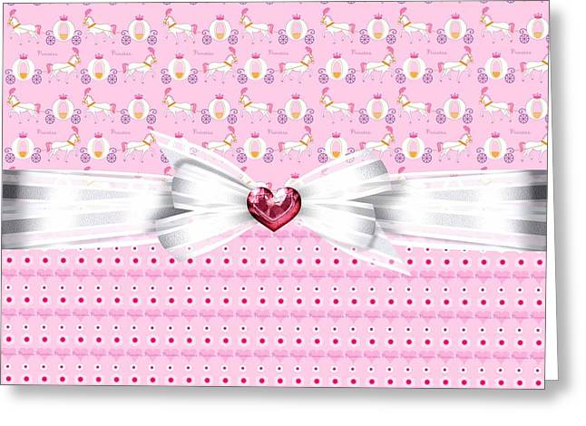 My Baby Greeting Cards - Pretty Pink Princess Greeting Card by Debra  Miller