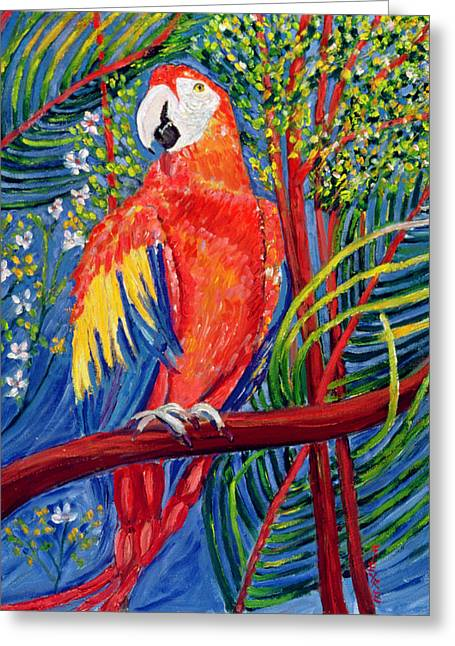 Parrots Greeting Cards - Pretty Polly Greeting Card by Patricia Eyre