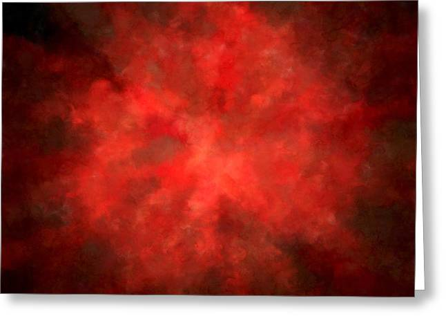 Burgundy Digital Art Greeting Cards - Pretty Scarlet Greeting Card by Lourry Legarde