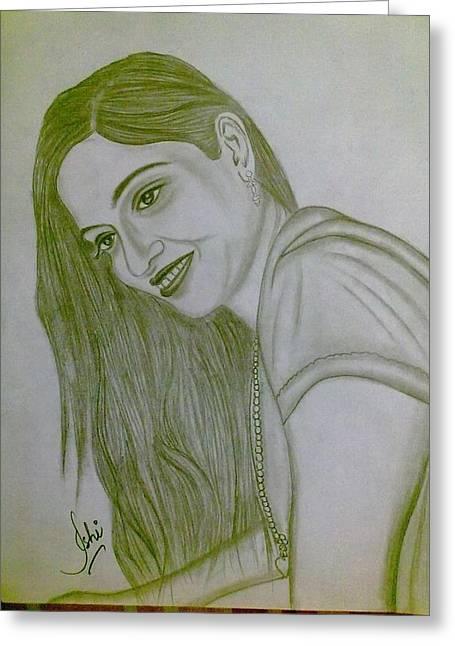 Syeda Ishrat Greeting Cards - Pretty smile Greeting Card by Syeda Ishrat