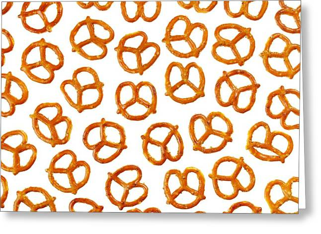 Crisp Greeting Cards - Pretzels Greeting Card by Jim Hughes