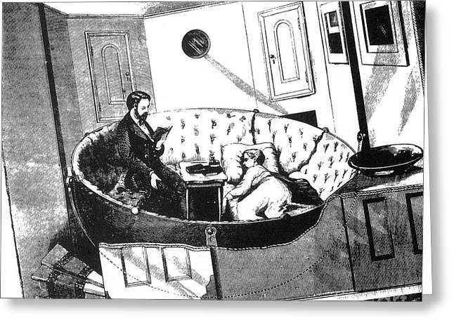 Vertigo Greeting Cards - Prevention Of Seasickness 1870 Greeting Card by Science Source