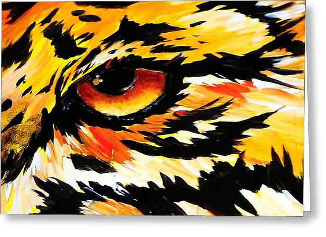 The Tiger Greeting Cards - Prey Sighted Greeting Card by Saundra Myles