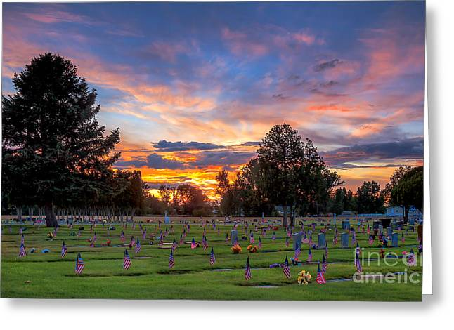 Price Of Freedom Greeting Card by Robert Bales