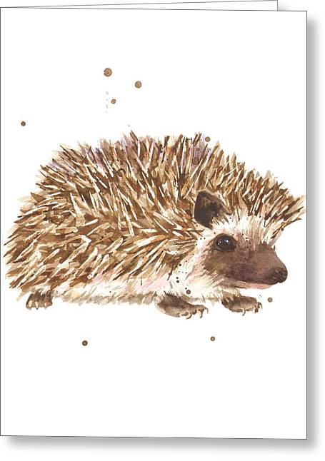 Wildlife Art Prints Greeting Cards - Prickly Paul Greeting Card by Alison Fennell