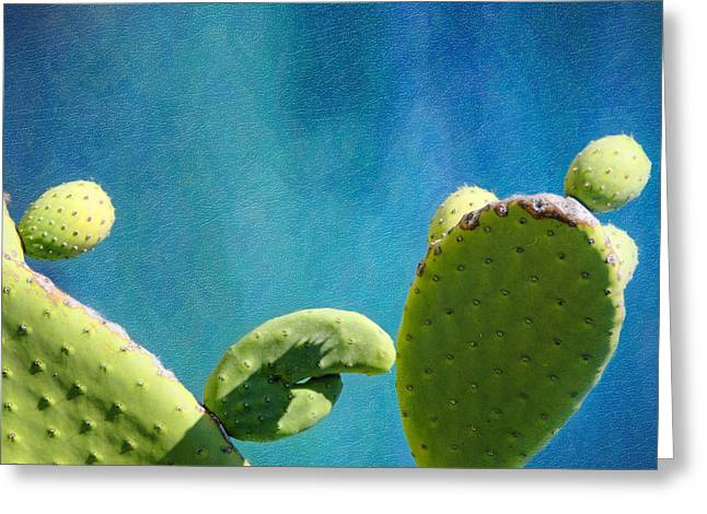 Pear Art Greeting Cards - Prickly Pear Art Greeting Card by Vicki Jauron