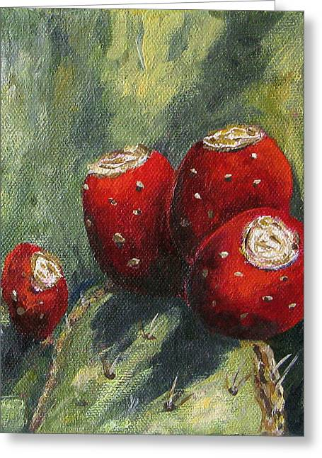 Prickly Greeting Cards - Prickly Pear Cactus II Greeting Card by Torrie Smiley
