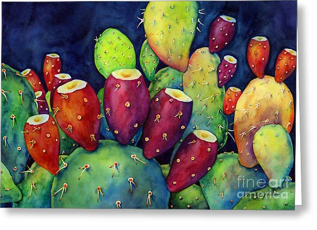 Prickly Pear Greeting Card by Hailey E Herrera