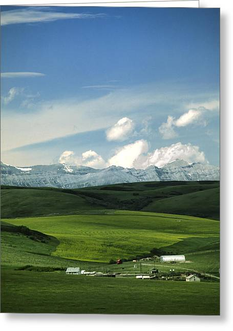 Alberta Foothills Landscape Greeting Cards - Priddis Paradise Greeting Card by Roderick Bley