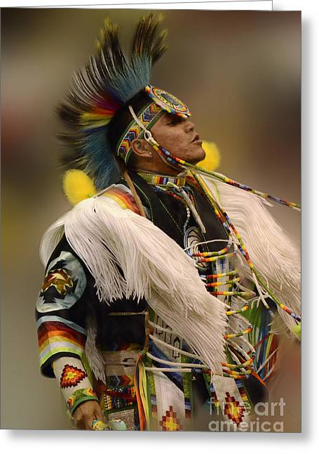 Pow Wow Greeting Cards - Pow Wow Native Pride 2 Greeting Card by Bob Christopher