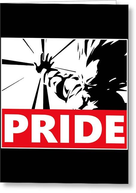 Pride Greeting Card by Danilo Caro