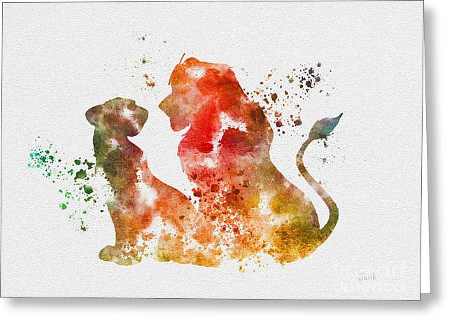 Africa Mixed Media Greeting Cards - Pride of Africa Greeting Card by Rebecca Jenkins