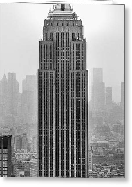 Manhattan Greeting Cards - Pride Of An Empire Greeting Card by Az Jackson