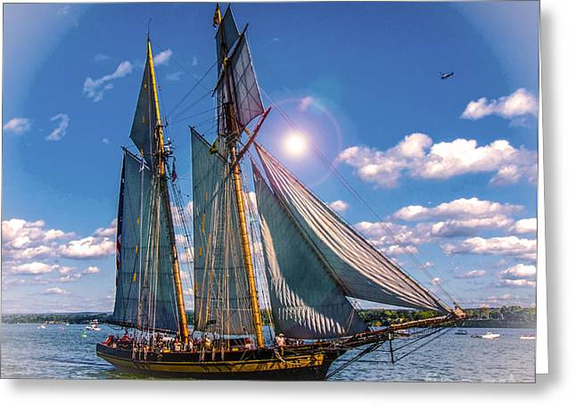 Sailing Ship Greeting Cards - Pride of Baltimore 3 Greeting Card by Kathryn Strick