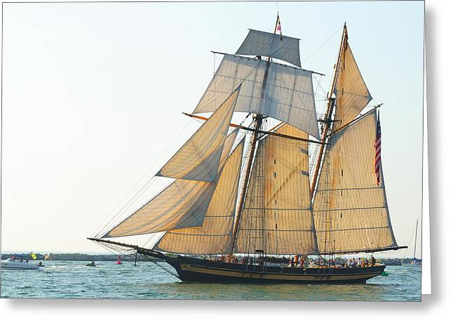 Historic Schooner Greeting Cards - Pride of Baltimore Greeting Card by Kenneth Sponsler
