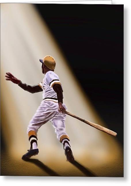 Clemente Mixed Media Greeting Cards - Pride of Puerto Rico Greeting Card by Jeremy Nash