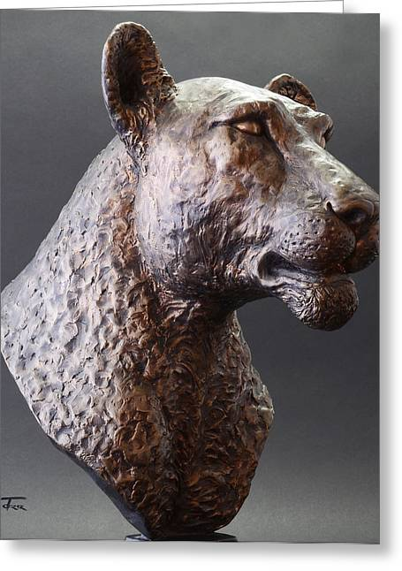 Lions Sculptures Greeting Cards - Pride Greeting Card by Shane Torr