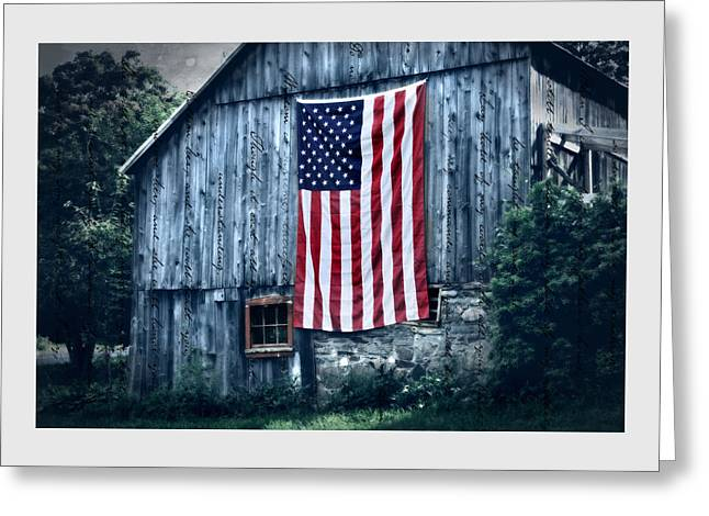 American Flag Art Greeting Cards - Pride Greeting Card by Thomas Schoeller