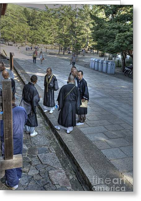 Nara Greeting Cards - Priestly Gathering Greeting Card by David Bearden
