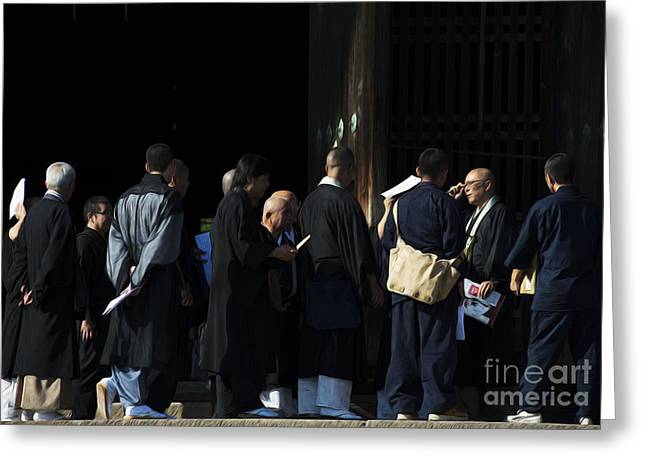 Kyoto Greeting Cards - Priests of Todai-ji Greeting Card by David Bearden