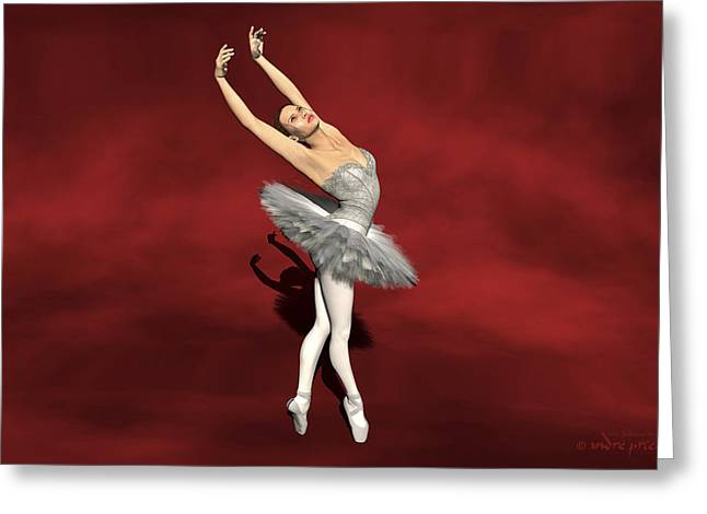 Prima Ballerina Digital Art Greeting Cards - Prima ballerina Kiko on Pointe pose Greeting Card by Andre Price