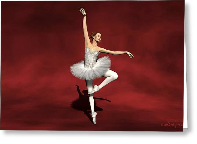 Prima Ballerina Digital Art Greeting Cards - Prima ballerina Kiko Pirouettes pose Greeting Card by Andre Price