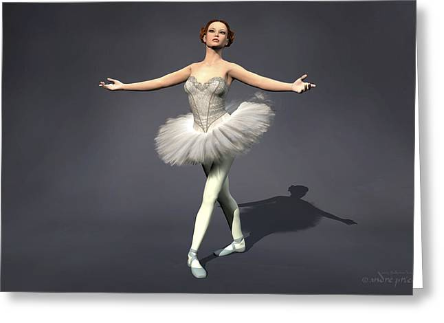 Prima Ballerina Digital Art Greeting Cards - Prima ballerina Nanashi Pirouette pose Greeting Card by Andre Price