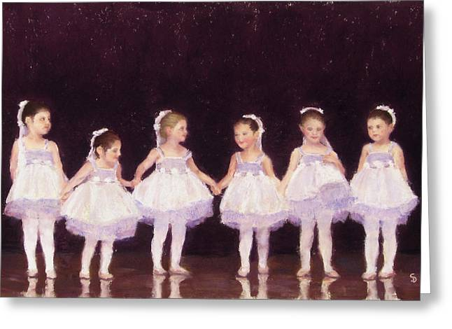 Show Pastels Greeting Cards - Prima Ballerinas Greeting Card by Stacey David