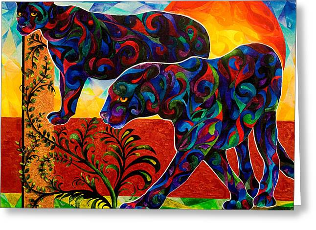 """""""jungle Vines"""" Greeting Cards - Primal Dance Greeting Card by Sherry Shipley"""