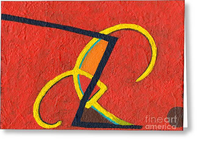 Abstract Geometric Greeting Cards - Primarily Primary Greeting Card by Sandy Linden