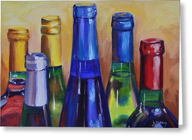 Virginia Wine Art Greeting Cards - Primarily Wine Greeting Card by Donna Tuten