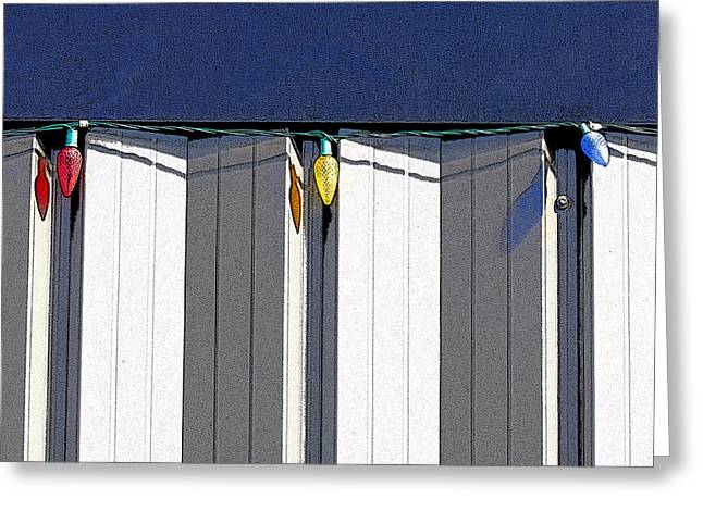 Geometric Art Greeting Cards - Primary Colors Greeting Card by Elena Nosyreva