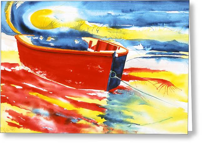 East Hampton Paintings Greeting Cards - Primary Colors Greeting Card by Lorraine LaVista