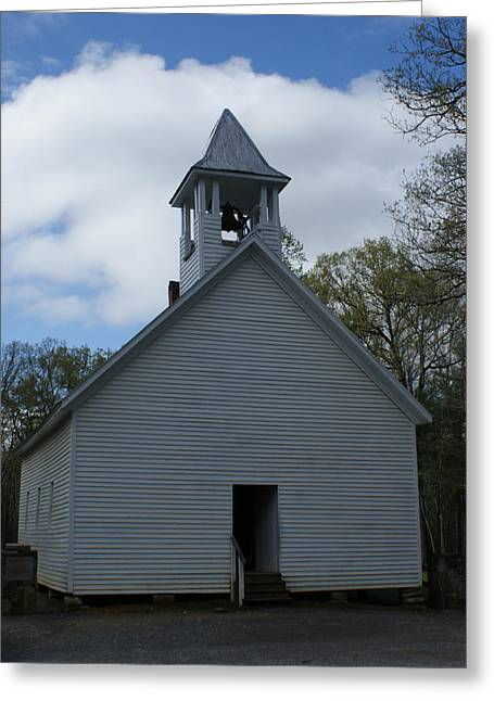 Primative Baptist Church In Cades Cove Greeting Card by Roger Potts