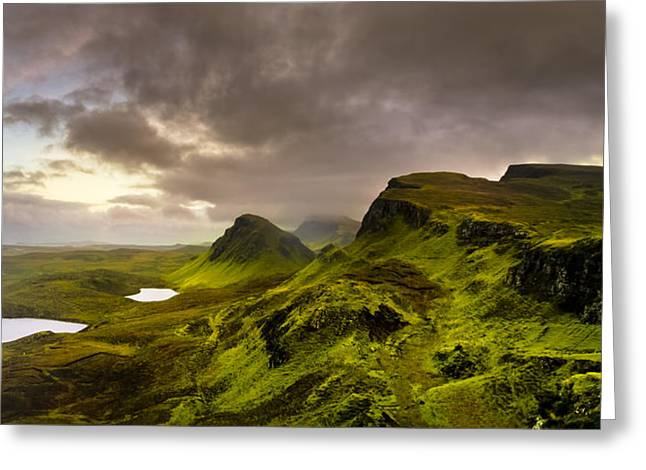Highlands Of Scotland Greeting Cards - Primeval Earth - Isle of Skye Panorama Greeting Card by Mark Tisdale