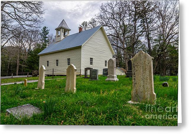 Primitive Greeting Cards - Primitive Baptist Church Greeting Card by Anthony Heflin
